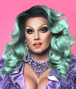 Drag Queen in Purple Dress