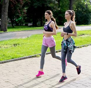 Girls Jogging Together