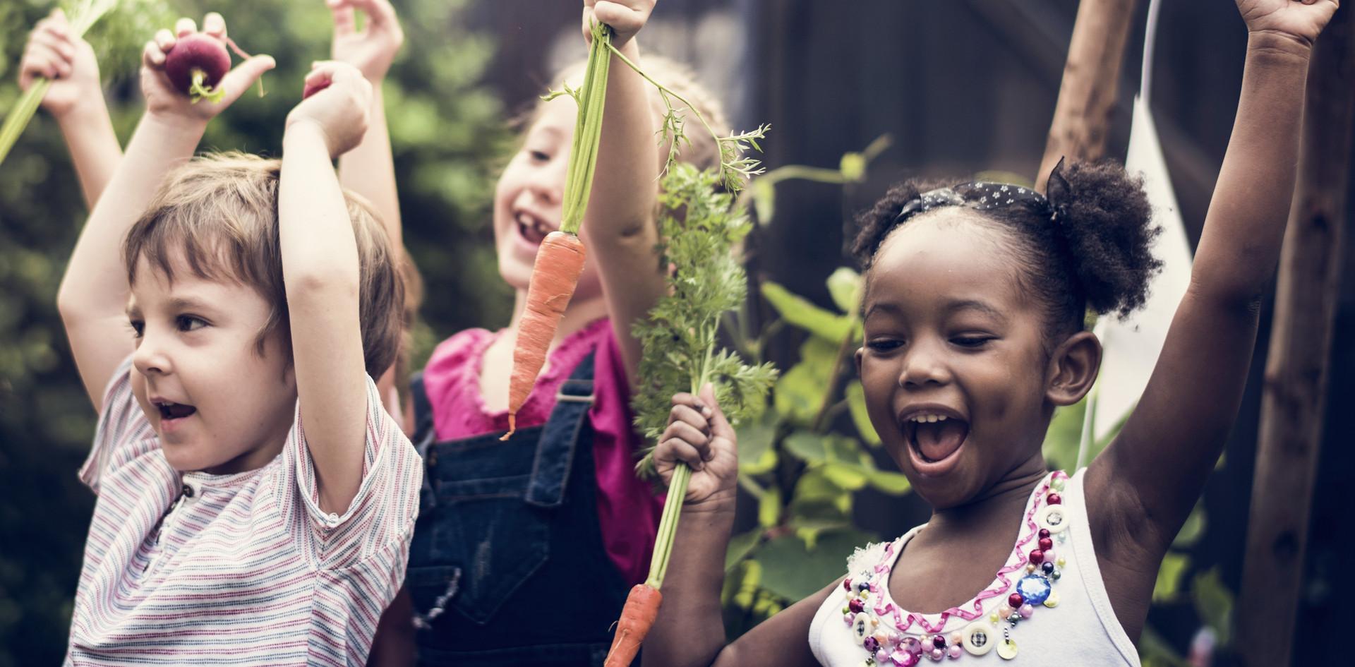 Kids in Vegetable Farm