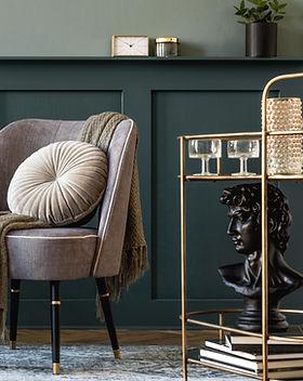 Grey Chair With Cushion