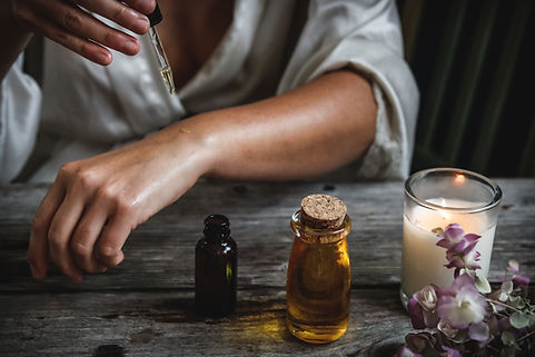 Ätherisches Öl auftragen