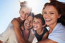 Happy Family in the sun