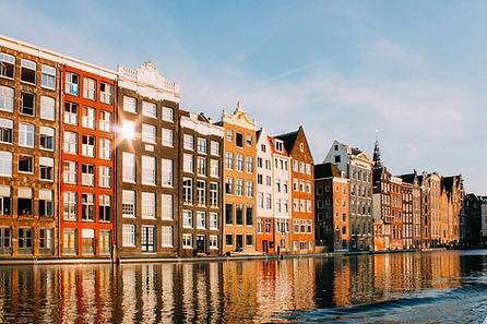 Row of houses in Amsterdam
