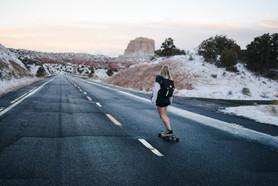 Woman on Longboard