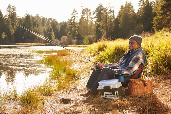 Man Fishing in the River