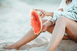 Eating Watermelon on the Beach