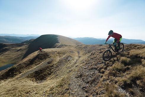 Professionelle Mountainbiker