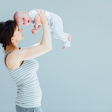 Mutter und Kind im Fotostübli