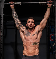 Strong Man with Tattoos