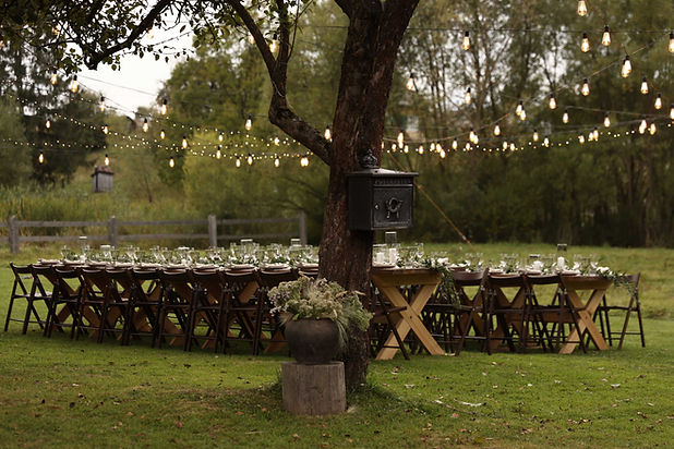 Mesa de boda al aire libre