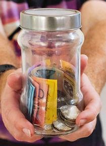 Geld einsameln