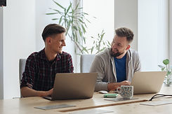 Co-workers in Modern Office