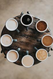Cafés multicolores