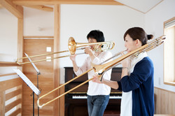 Tocando o trombone