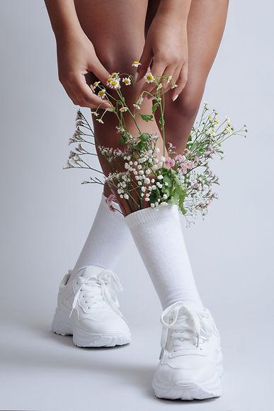 Fleurs en chaussette
