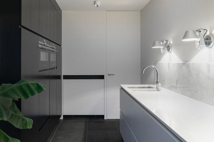 Design d'intérieur d'une cuisine à vannes