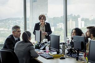 Colegas em reunião