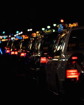 タクシーの列