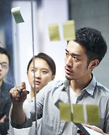 Reunião de equipe de brainstorm