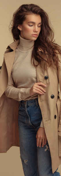 Fashion Model in Trench Coat
