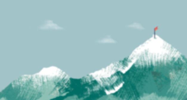 Vlag op bergtop