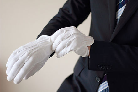 手袋 ボディパーツ 男性 (手 スーツ ビジネス 仕事 働く 調査 警察 鑑識