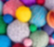 Colección de hilados de colores
