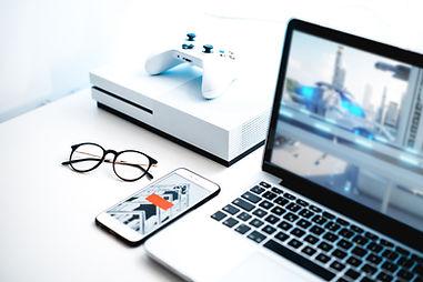 Videogame op scherm
