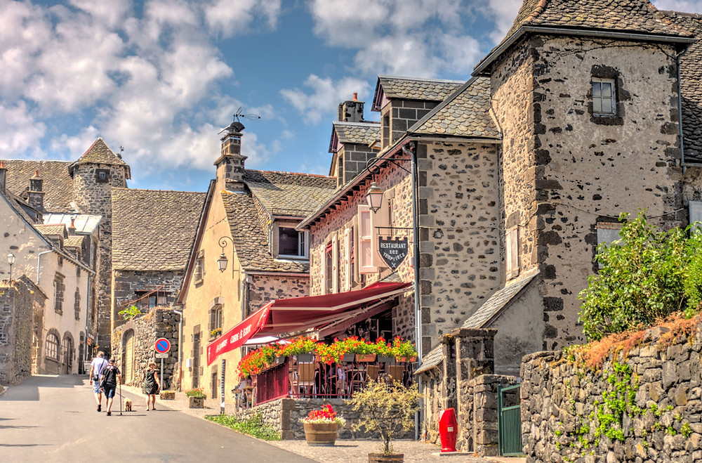 street view of a french village