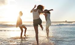 Amis à la plage