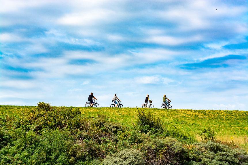 Vrienden op fietstocht
