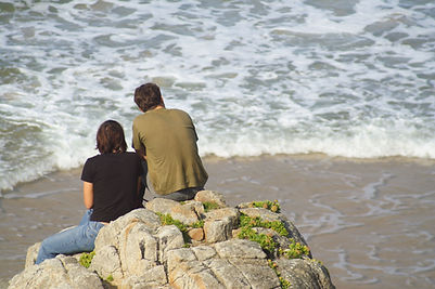 On a Rock by the Ocean
