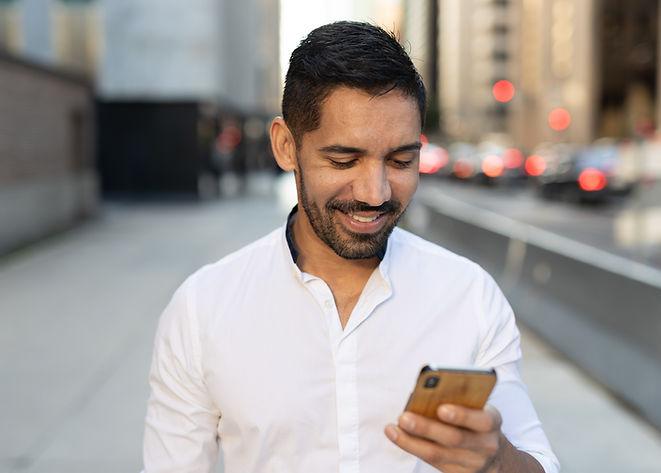 Man on His Phone