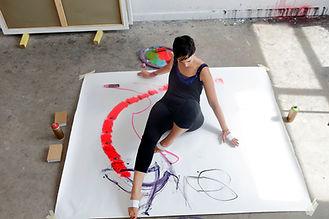Artist on Canvas