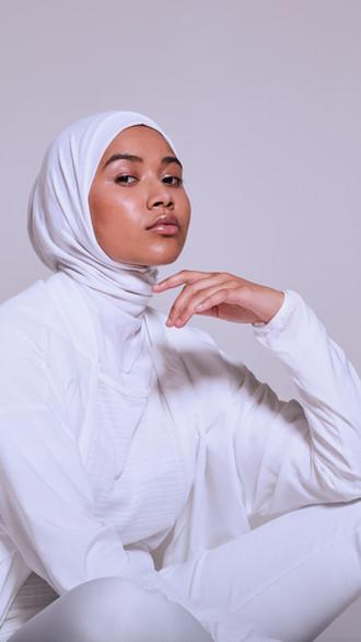 Muslim Woman in White