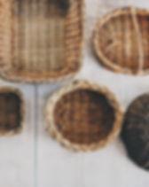 cestas de paja