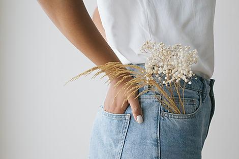 Flores no bolso