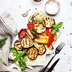 Roasted Veggies with Greek Dip