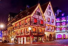Maisons de village à Noël