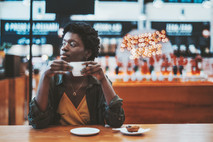 Woman with Coffee