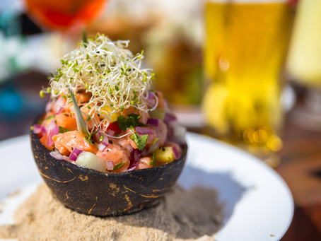 """Triple citrus Rock fish Ceviche Paired with """"the New Deal"""""""