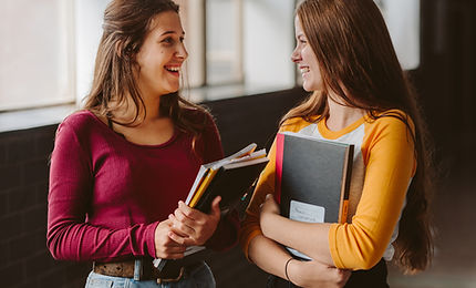 College Students in Corridor