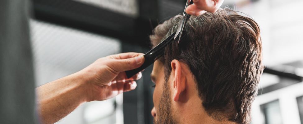 Man Getting a Haircut