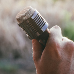 Holding a Mic