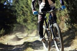 pov of mountain bike rider