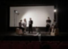 Skådespelare övar