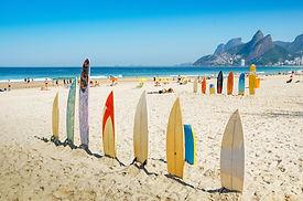 Pranchas de surf em Ipanema