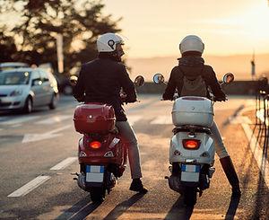 Conducteurs de scooter
