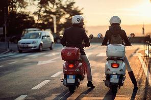 Motoristas de scooter