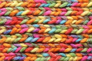 Imprimé tricoté coloré